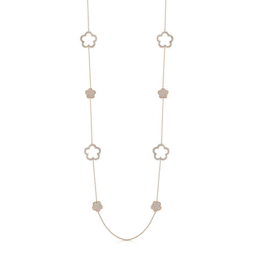 Rose Gold Plated Zara Long Necklace