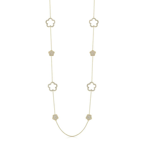 Yellow Gold Plated Zara Long Necklace