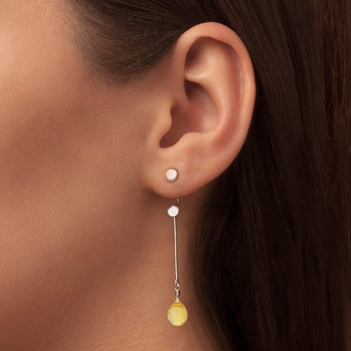 Brilliant Brio Earrings With Citrine - Long Drop ,[product vendor],JewelStreet
