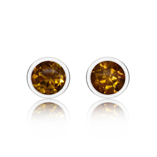 Sparkly Solo Studs With Citrine ,[product vendor],JewelStreet