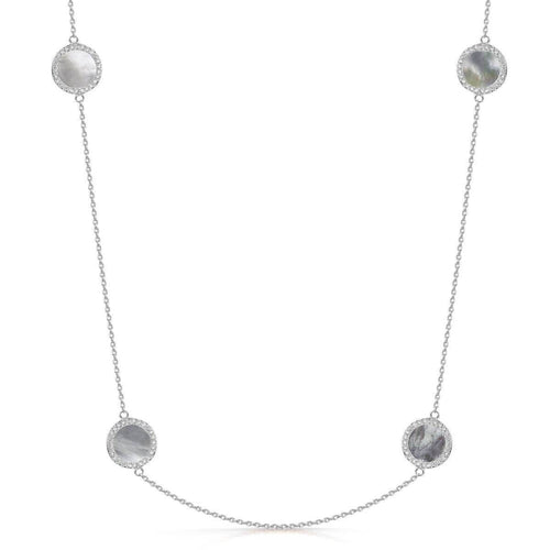 Rhodium Plated Darcy Necklace
