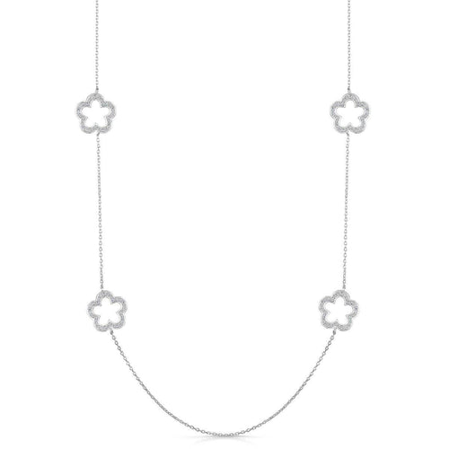 Rhodium Plated Zara Necklace