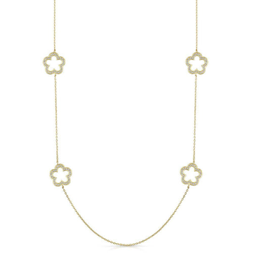 Yellow Gold Plated Zara Necklace