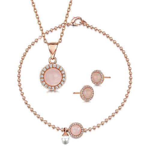 Rose Gold Plated Rosanna Pendant, Bracelet & Earring Set