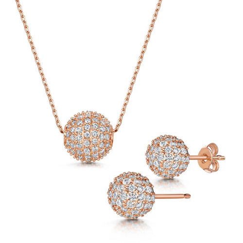 Rose Gold Plated Dianna Pendant & Earring Set