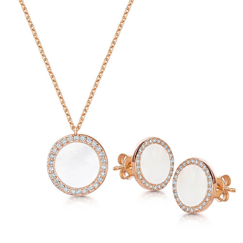 Rose Gold Plated Darcy Pendant & Earring Set
