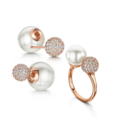 Rose Gold Plated Dianna Earring & Ring Set