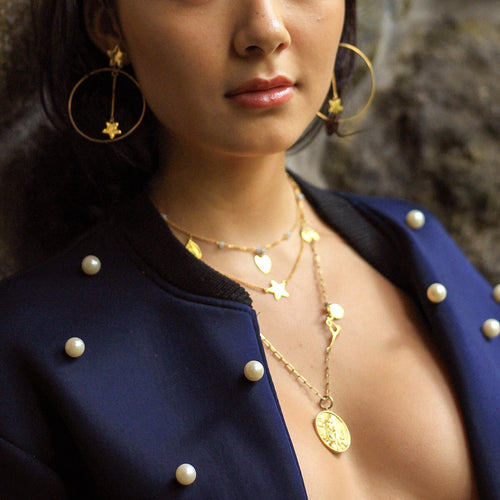 24kt Gold Plated Sterling Silver Cleopatra Necklace