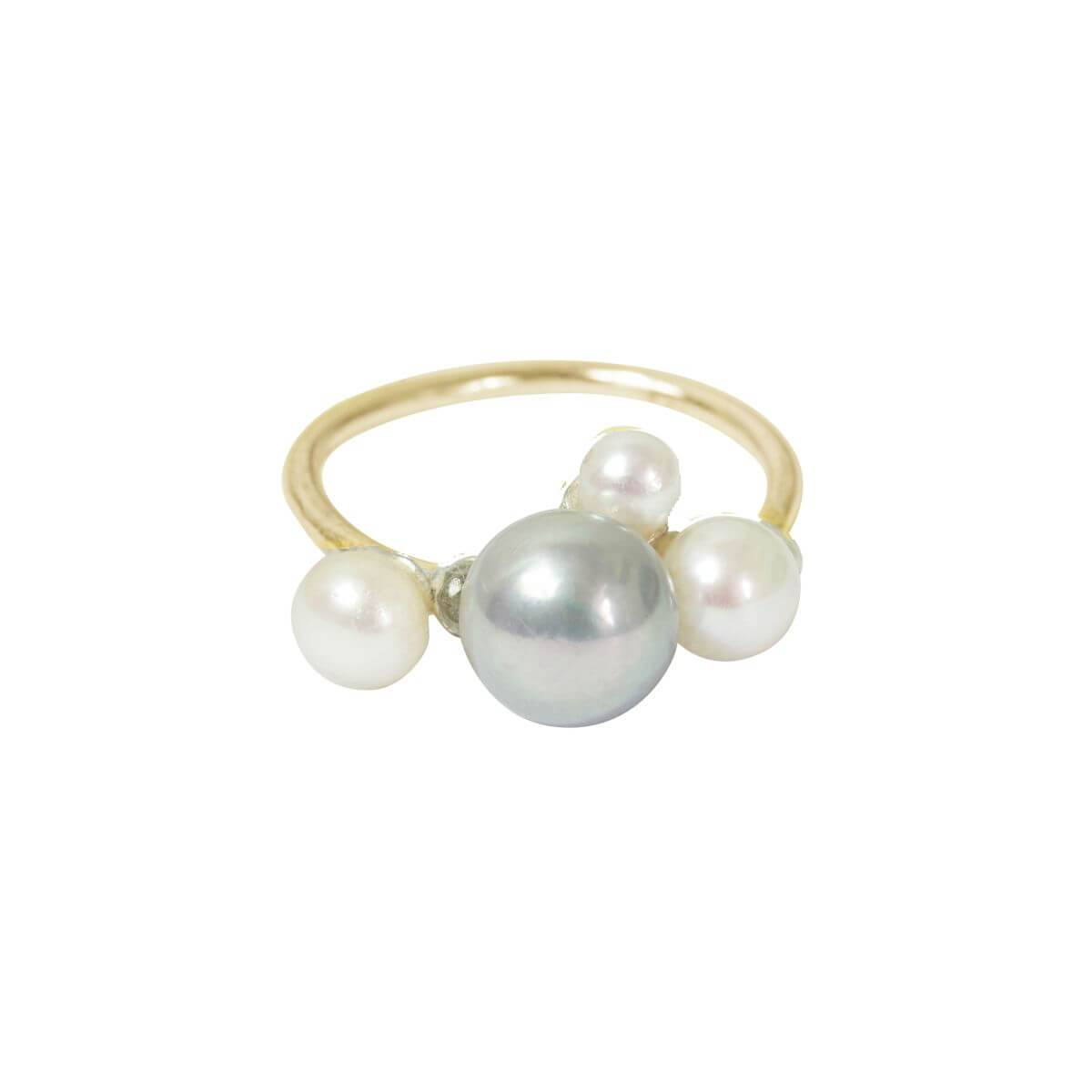 9kt Yellow Gold Ingrid Pearl Ring With Pearl