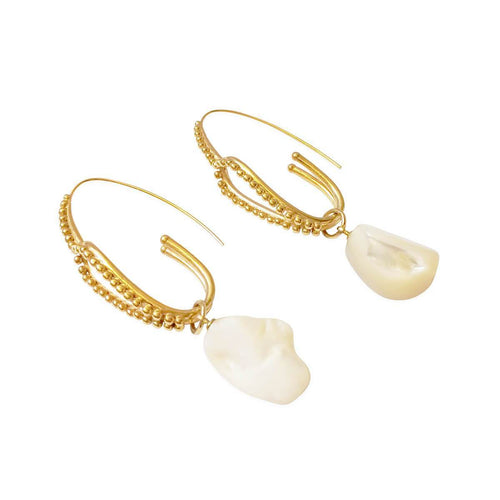 14kt Gold Plated Kuri Earrings ,[product vendor],JewelStreet