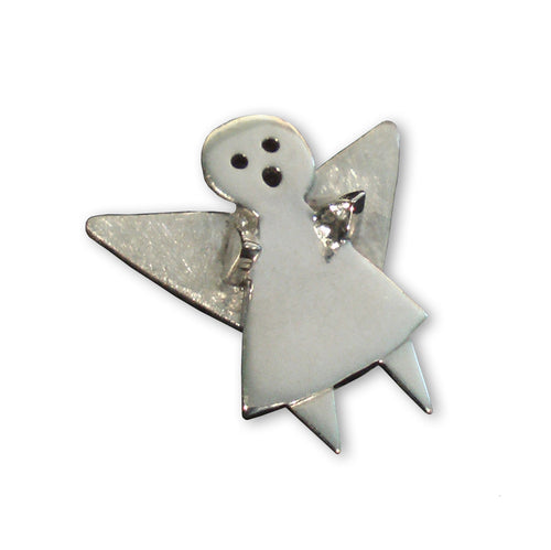 Sterling Silver Guardian Angel Pin ,[product vendor],JewelStreet