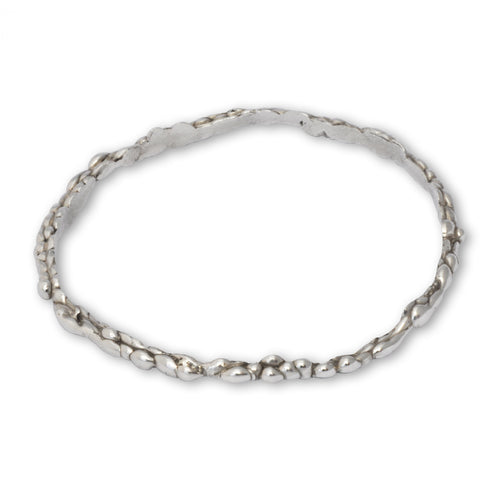 Sterling Silver Lightweight Molten Bangle ,[product vendor],JewelStreet