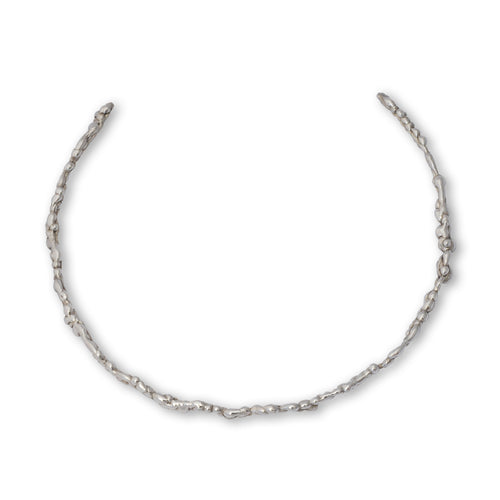 Sterling Silver Lightweight Molten Neck Torc ,[product vendor],JewelStreet