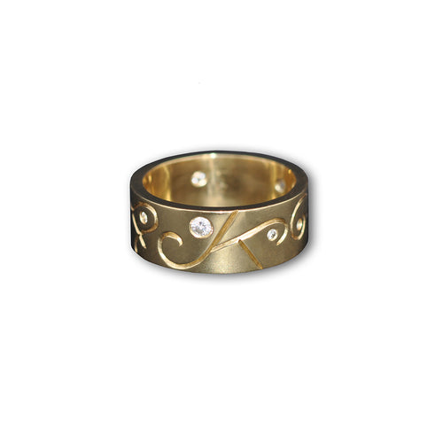 9kt Yellow Gold Women's Arcticos Ring ,[product vendor],JewelStreet
