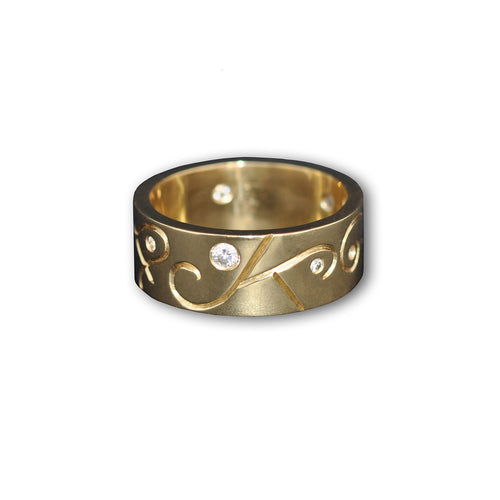 9kt Yellow Gold Men's Arcticos Ring ,[product vendor],JewelStreet