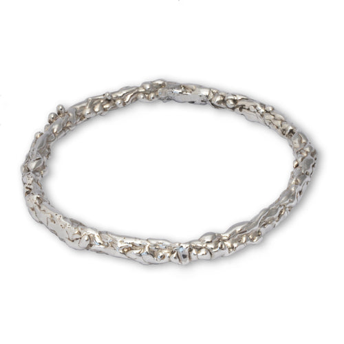 Sterling Silver Molten Bangle ,[product vendor],JewelStreet