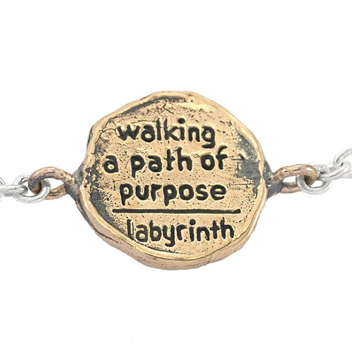 Bronze Walking A Path Of Purpose Mini-Medallion Bracelet