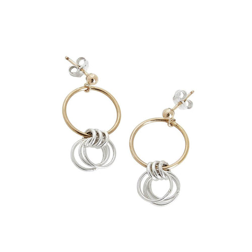 Yellow Gold Filled Sterling Silver Lucy Earrings
