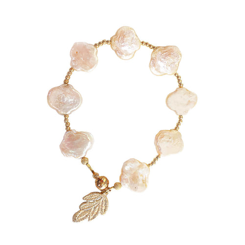 Flower Shaped Freshwater Pearl Bracelet ,[product vendor],JewelStreet