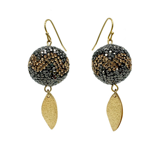 Rhinestone Ball Earrings ,[product vendor],JewelStreet