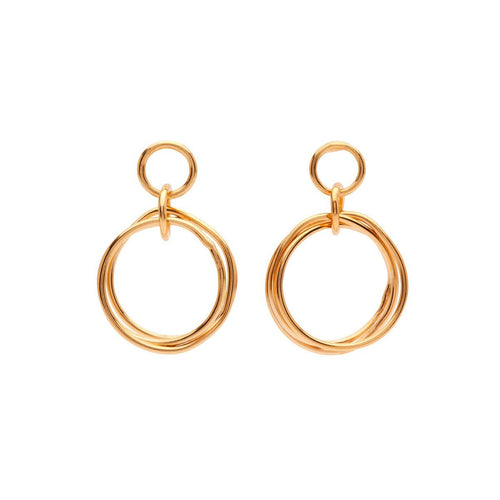 Yellow Gold Plated Petite Knot Earrings
