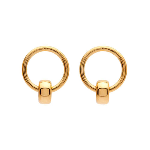 Yellow Gold Plated Petite 1 Studs