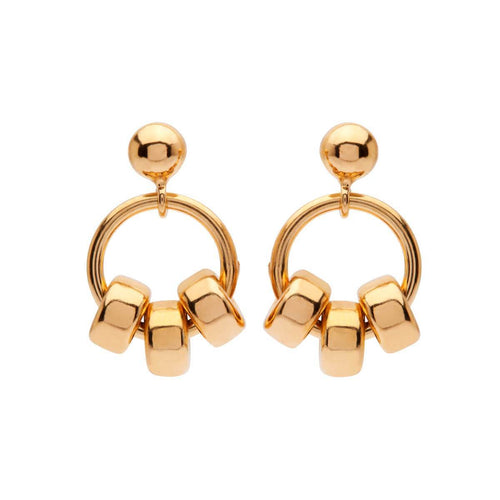 Yellow Gold Plated Petite 3 Studs