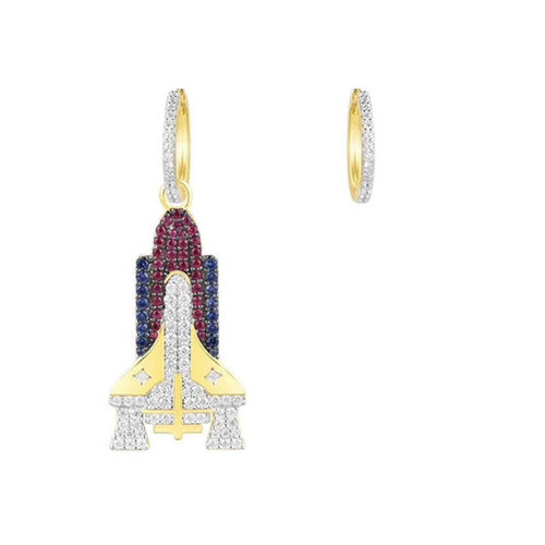 Gold Vermeil Mini Space Shuttle