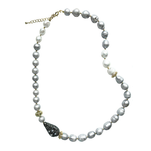 Grey Freshwater Pearl Choker ,[product vendor],JewelStreet