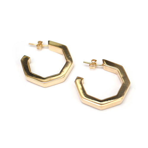 Yellow Gold Plated MARINA Large Hoops ,[product vendor],JewelStreet