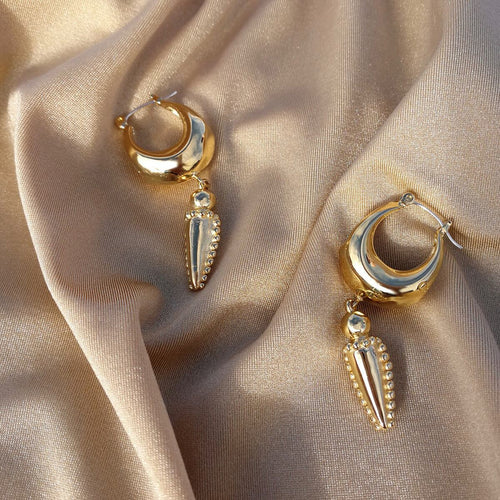 14kt Gold Plated Mini Mayacamas Earrings ,[product vendor],JewelStreet