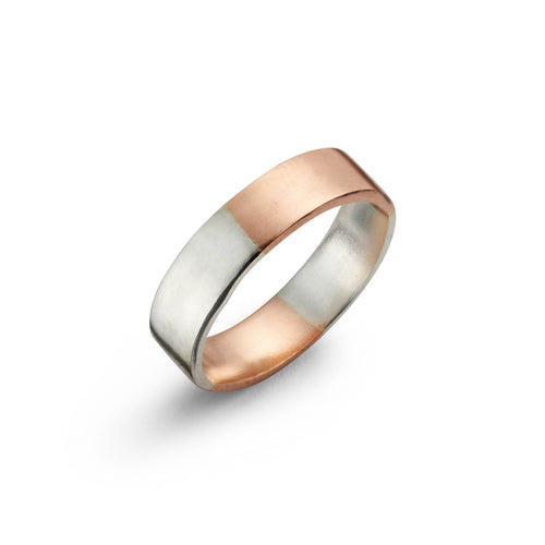 Sterling Silver & 9kt Gold Two Tone 4 Split Ring ,[product vendor],JewelStreet