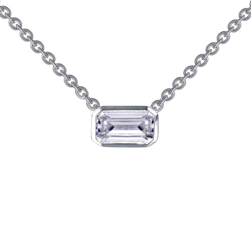 Lafonn Bezel-set Emerald-cut Choker Necklace