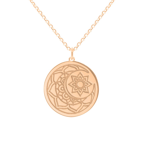 Rose Gold Plated Moon & Sun myMantra Pendant ,[product vendor],JewelStreet
