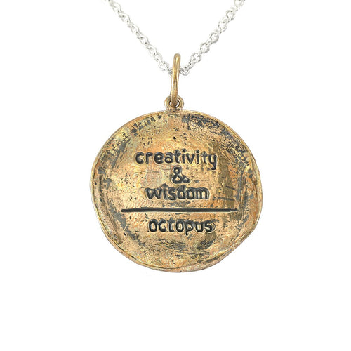 Bronze Creativity & Wisdom Medallion Necklace