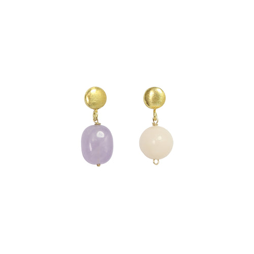 Gold Olivia Mismatched Gemstone Earrings ,[product vendor],JewelStreet