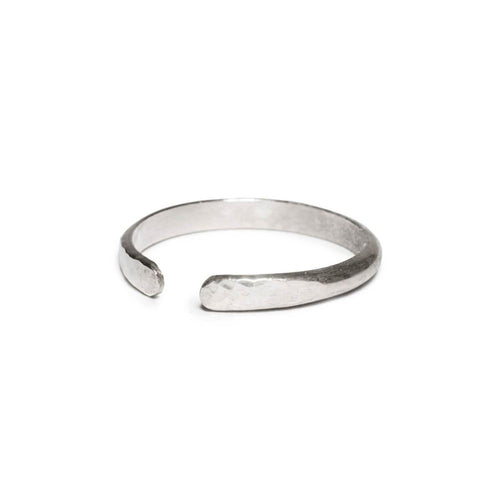 Sterling Silver Hammered Open Ring