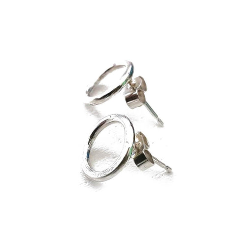 Sterling Silver Open Circle Silver Stud Earrings ,[product vendor],JewelStreet