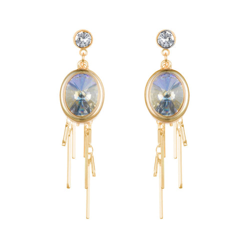 Aurora Gold Oval Cluster Earrings ,[product vendor],JewelStreet