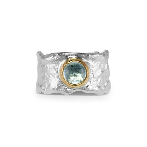 Sterling Silver & 18kt Gold Maris Ring With Topaz ,[product vendor],JewelStreet