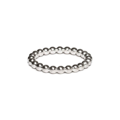 Sterling Silver Pearl Wire Ring