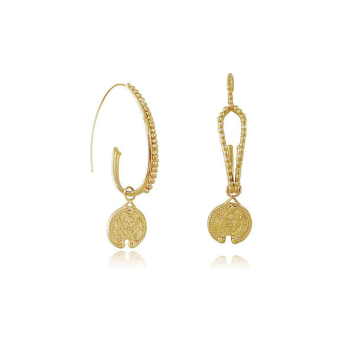 14kt Gold Plated Pendasion Earrings ,[product vendor],JewelStreet