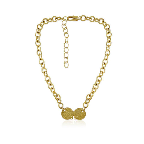 14kt Gold Plated Plato Necklace ,[product vendor],JewelStreet