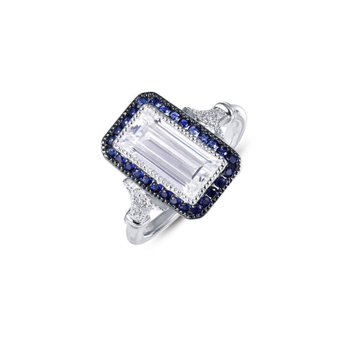 Emerald Cut Heritage Ring-Lafonn-JewelStreet US
