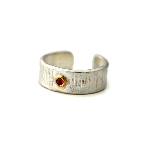White Gold Plated Silver Round Tourmaline Ring ,[product vendor],JewelStreet