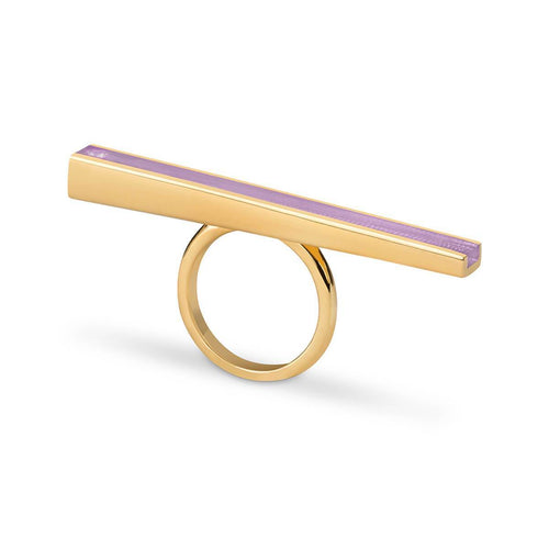 Gold Vermeil Iris Ring With Wisteria Resin ,[product vendor],JewelStreet