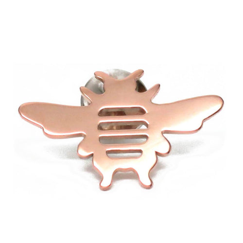 18kt Rose Gold Vermeil Whitney Bee Lapel Pin Brooch