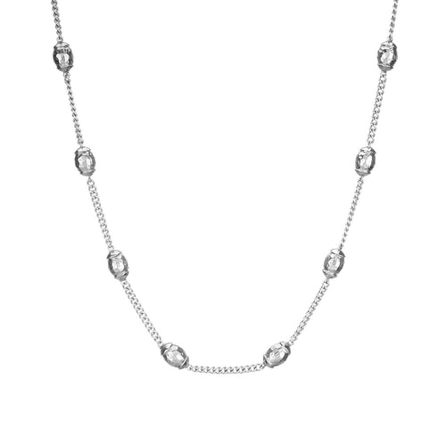Sterling Silver Plated Una Necklace ,[product vendor],JewelStreet