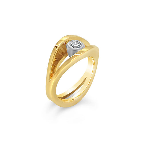 18kt Yellow Gold Reflections Ring ,[product vendor],JewelStreet