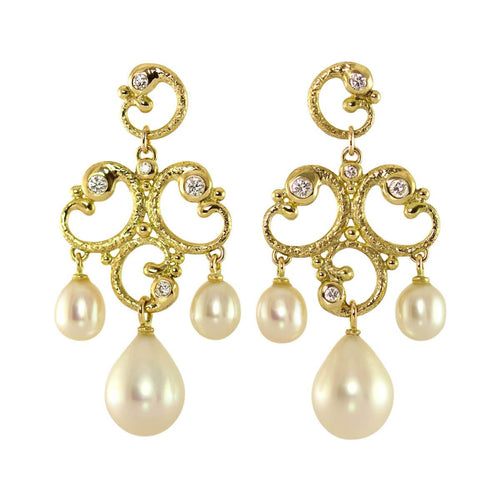 18kt Yellow Gold Rocaille Showpiece Earrings